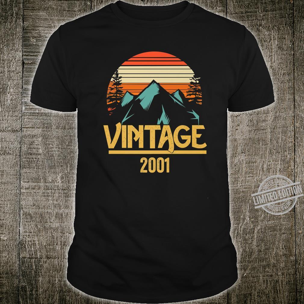 2001 Vintage Mountain Tip Retro 18th Birthday 18 Year Old Shirt