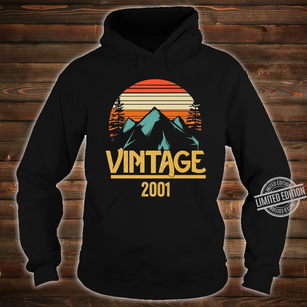 2001 Vintage Mountain Tip Retro 18th Birthday 18 Year Old Shirt hoodie