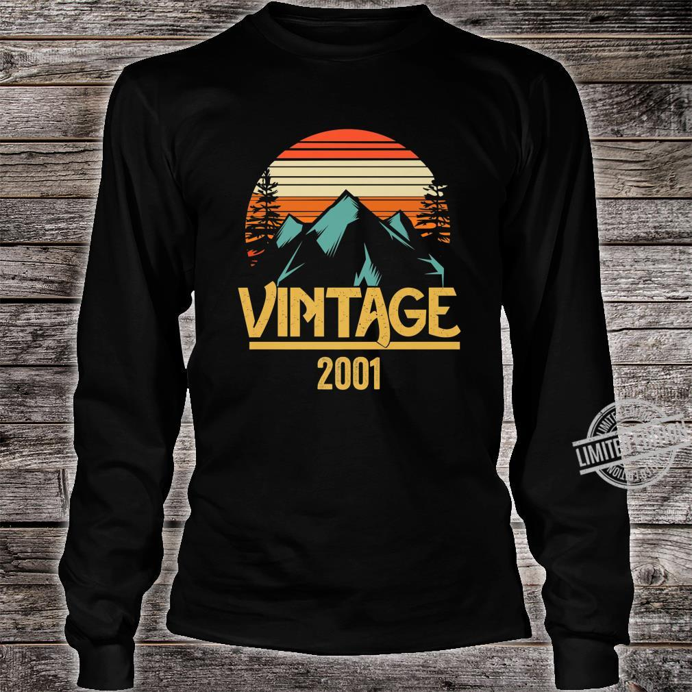 2001 Vintage Mountain Tip Retro 18th Birthday 18 Year Old Shirt long sleeved