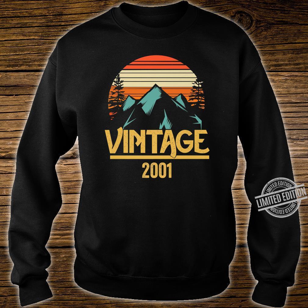 2001 Vintage Mountain Tip Retro 18th Birthday 18 Year Old Shirt sweater