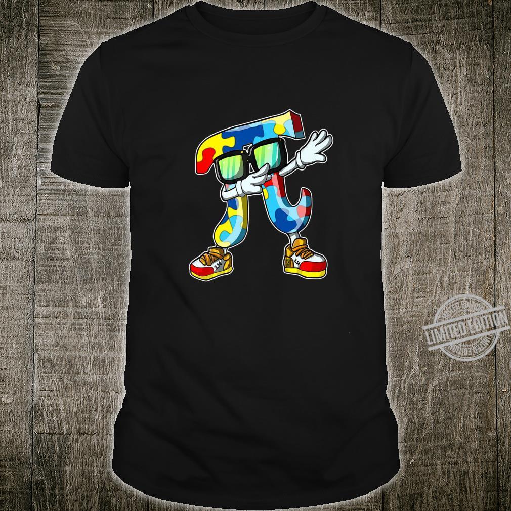 Dabbing Pi 3.14 Puzzle Autism Awareness Shirt