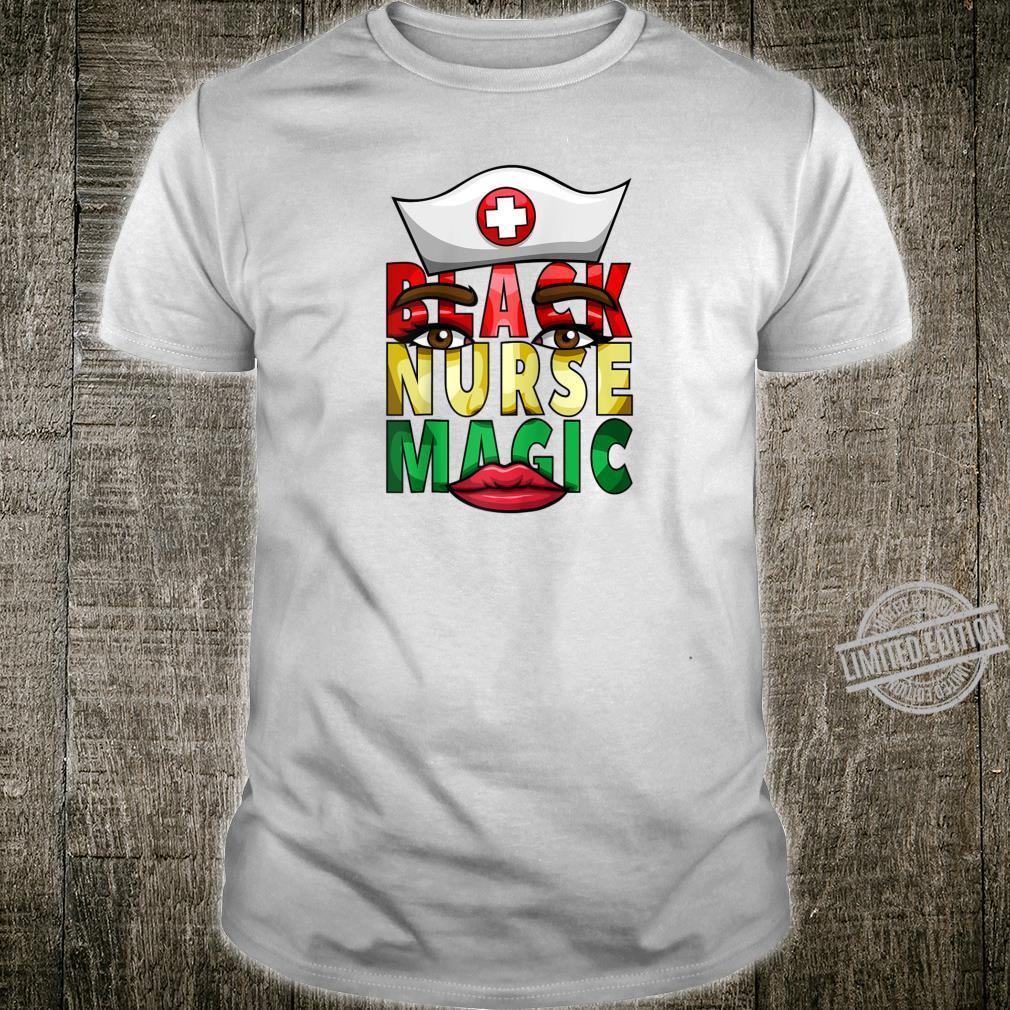 Womens Black Nurse Registered NICU Nurse Black History Shirt
