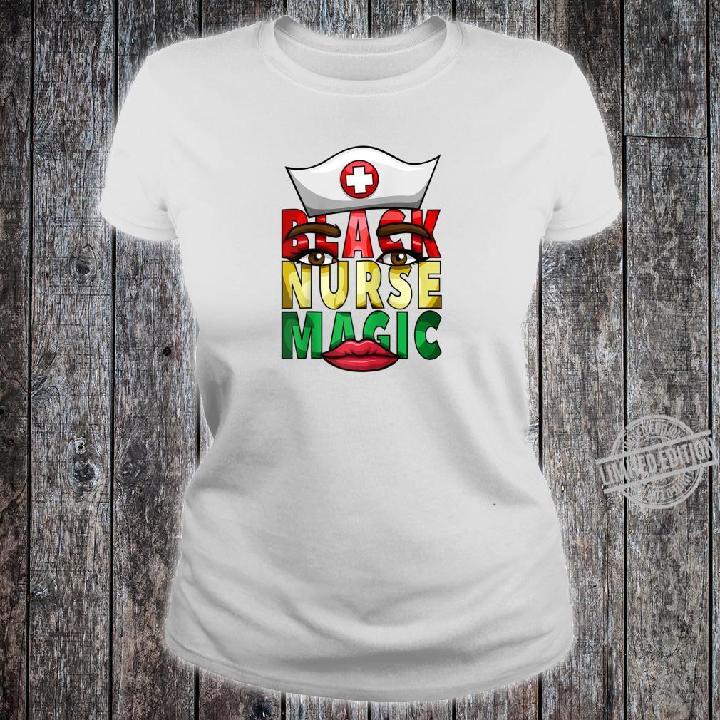 Womens Black Nurse Registered NICU Nurse Black History Shirt ladies tee