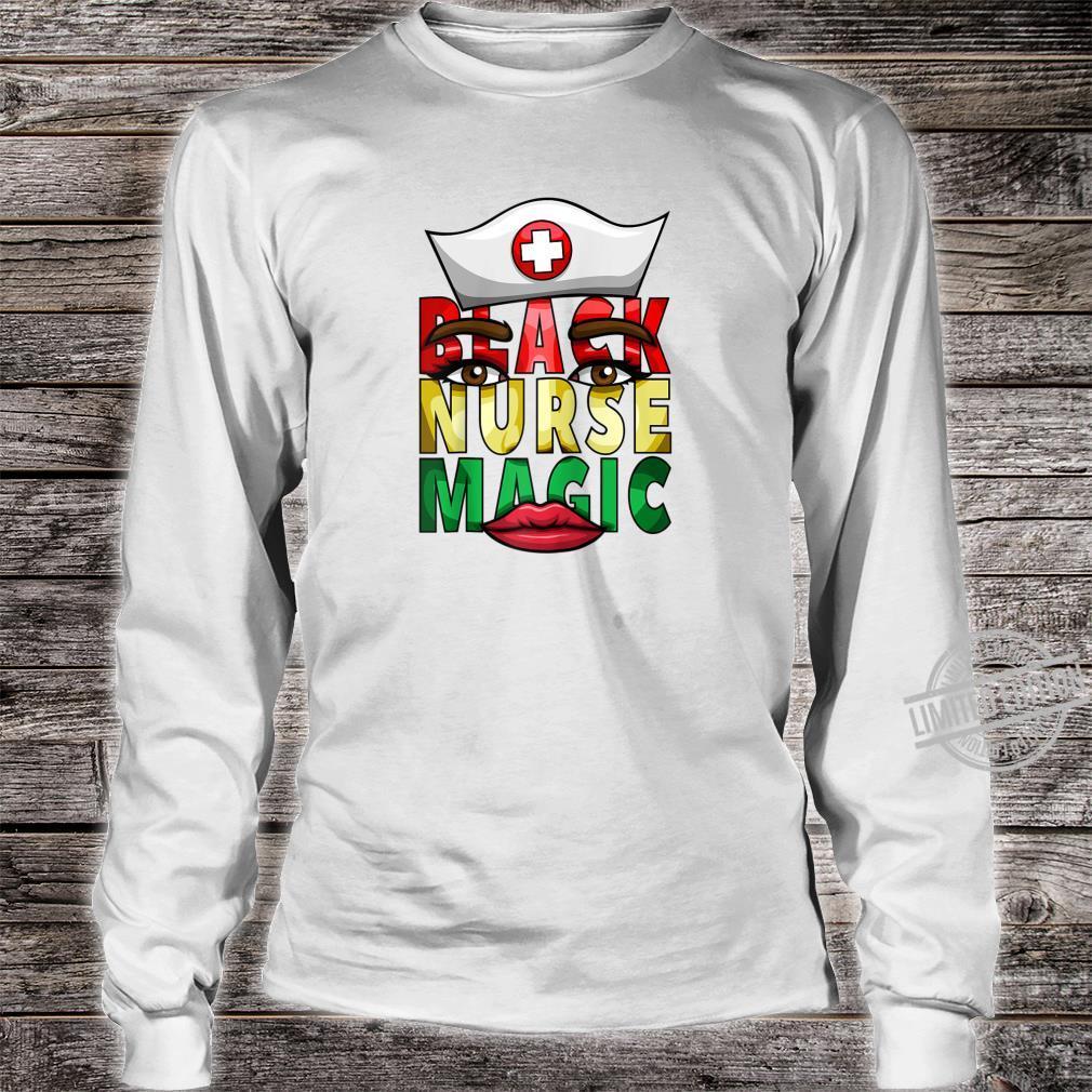 Womens Black Nurse Registered NICU Nurse Black History Shirt long sleeved