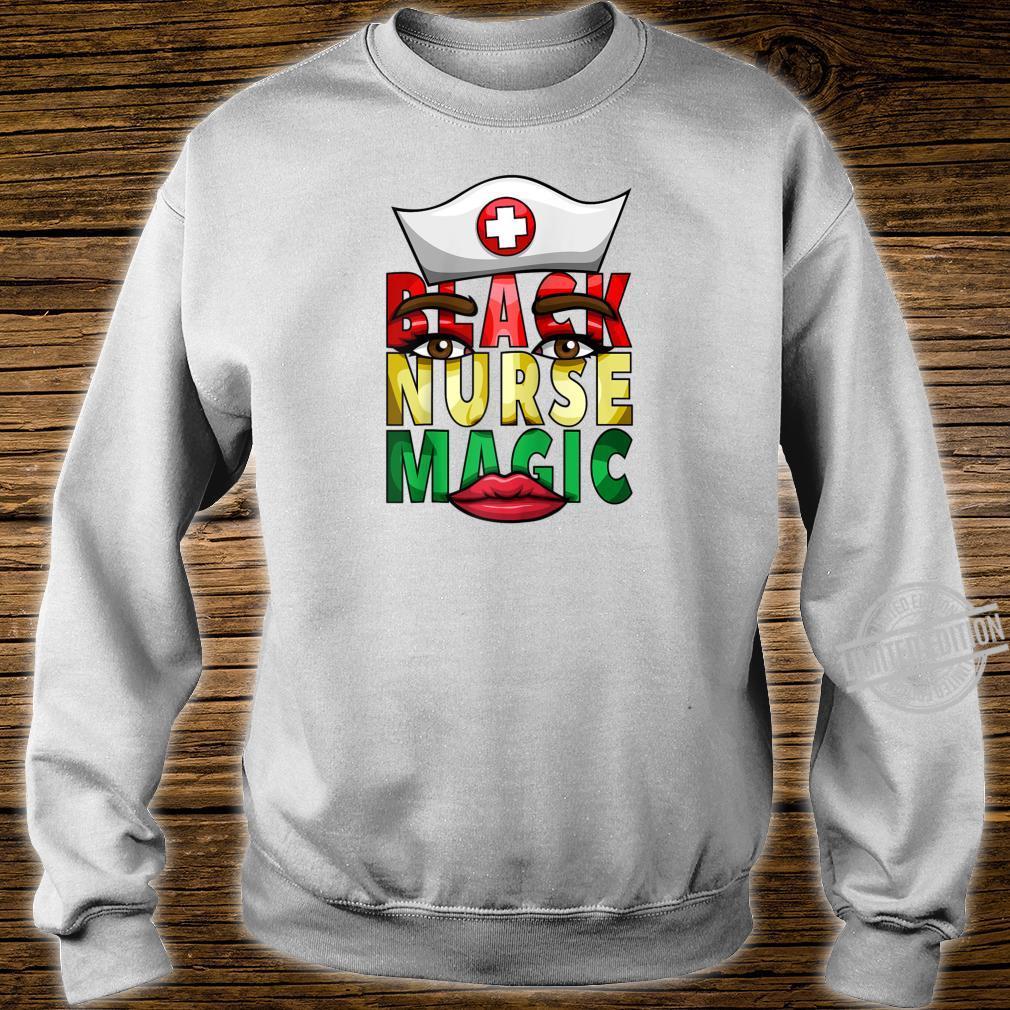 Womens Black Nurse Registered NICU Nurse Black History Shirt sweater