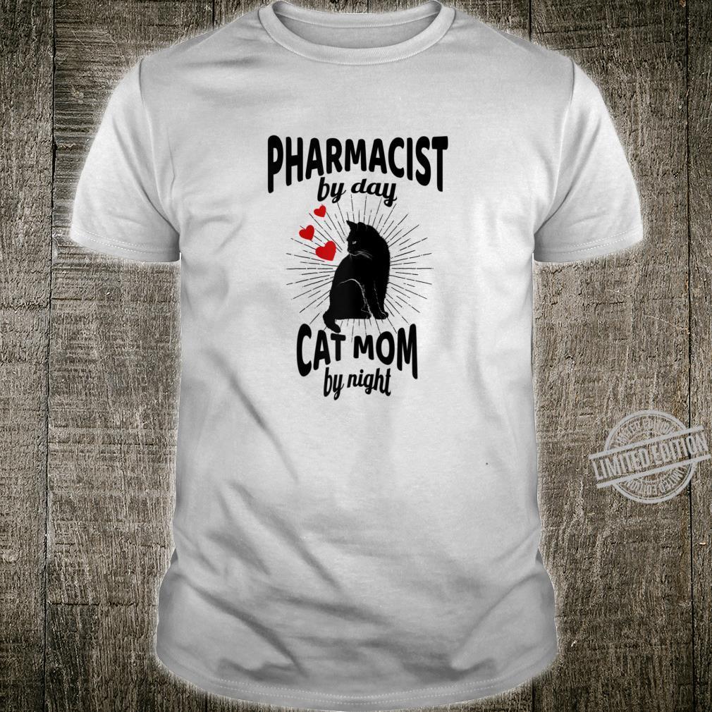 Womens Pharmacist Cat Mommy Shirt